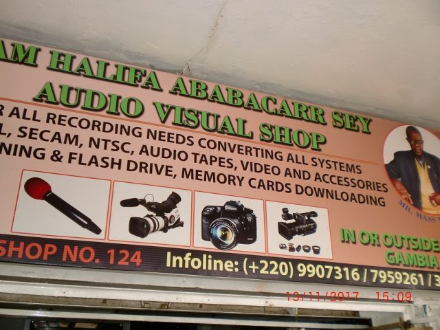 Mam Halifa Ababacarr Sey Audio and Visual Shop